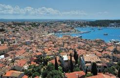 gammal town croatia Rovin Royaltyfri Fotografi