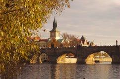 gammal town för bro Royaltyfri Foto