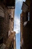 gammal town för budva Arkivfoton