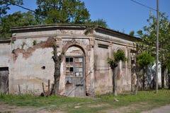 gammal town för hus Arkivbilder