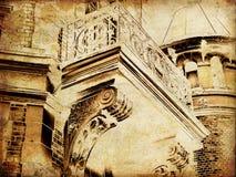 gammal town för konstkort Arkivbilder