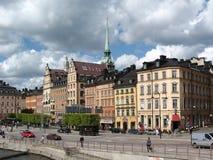 gammal town för s stockholm arkivbilder