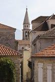 gammal town för taktegelplatta Arkivfoton