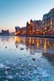 gammal town för gdansk hamn Fotografering för Bildbyråer