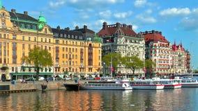 Gammal Town i Stockholm, Sverige lager videofilmer
