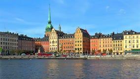 Gammal Town i Stockholm, Sverige arkivfilmer