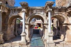 Gammal town Kaleici i Antalya Turkiet Arkivbilder