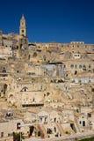 gammal town Matera Basilicata Apulia eller Puglia italy royaltyfria bilder
