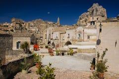 gammal town Matera Basilicata Apulia eller Puglia italy royaltyfri foto