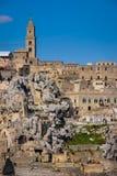gammal town Matera Basilicata Apulia eller Puglia italy arkivbilder