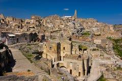gammal town Matera Basilicata Apulia eller Puglia italy arkivfoton