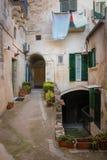gammal town Matera Basilicata Apulia eller Puglia italy arkivfoto