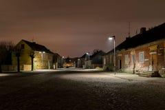 Gammal Town på natten Royaltyfri Bild
