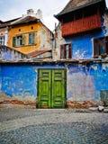 Gammal town Sibiu arkivbilder