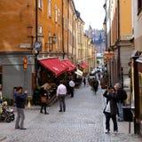 Gammal Town Stockholm Fotografering för Bildbyråer