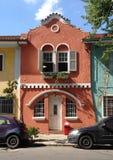 Gammal townhouse Arkivfoto