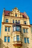 Gammal townhouse Arkivbild