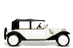 Gammal toybil Tatra 11 Faeton royaltyfri bild