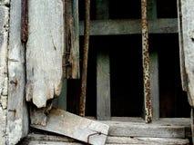 Gammal trä- och ståltextur Arkivbilder