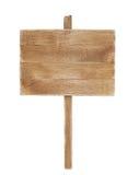 Gammal träaffischtavla som isoleras på vit royaltyfria bilder