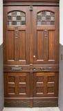 Gammal träarkitekturelegans för dörr Royaltyfri Fotografi