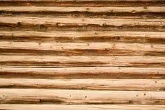 Gammal träbakgrund för journaltimmerbyggnad Royaltyfri Fotografi