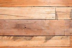 Gammal träbakgrund för väggpaneler Arkivfoton