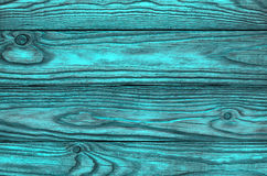 Gammal träblå bakgrund av fyra bräden Royaltyfria Bilder