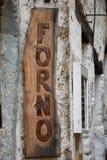 Gammal träbrunt för ugnsteckenfärg Royaltyfri Fotografi