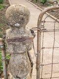 gammal trädgårds- port royaltyfri foto