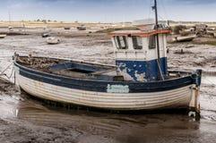 Gammal träfiskebåt Arkivfoton
