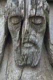 Gammal träjesus christ skulptur Arkivfoto