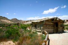Gammal träkoja, Utah Royaltyfri Bild