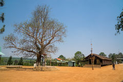 Gammal träkyrka i Vietnam Arkivfoto