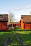 Gammal träladugård Arkivfoto