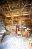 Gammal traditionell stolpe - kontor Arkivbild
