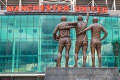 Gammal trafford, Manchester United royaltyfri foto