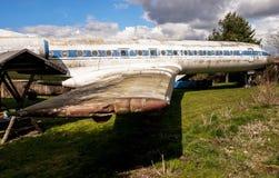 Gammal trafikflygplan Tupolew Tu-134 Arkivfoto