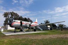 gammal trafikflygplanfinska Arkivbild