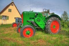 gammal traktor för hdr Royaltyfri Foto