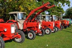 gammal traktortappning Arkivbild