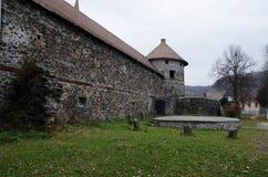 Gammal Transilvanian slott Arkivbilder