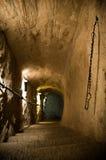 gammal trappa för dungeon Royaltyfria Bilder
