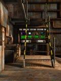 Gammal trappa i en industriell byggnad Royaltyfri Bild