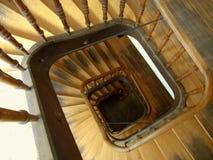 gammal trappuppgång Royaltyfria Foton