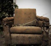 gammal trasa för stol Fotografering för Bildbyråer