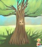 gammal tree stock illustrationer