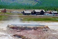 Gammal trogen gästgivargård Yellowstone Arkivfoton