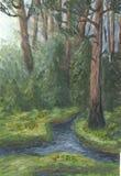gammal troitsk för skog Royaltyfri Fotografi