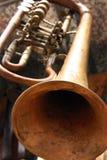 gammal trumpet Arkivfoto